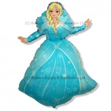 Jumbo Winter Princess Shape Balloon
