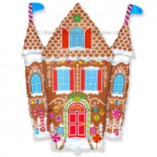XL Jumbo Fairytale Gingerbread House Shape Balloon