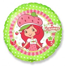 "18"" Strawberry Shortcake Smile Character Balloon"