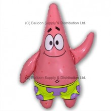 Mini Patrick Starfish Air-Filled Stick Balloon