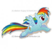 Jumbo Rainbow Dash Shape Balloon - My Little Pony