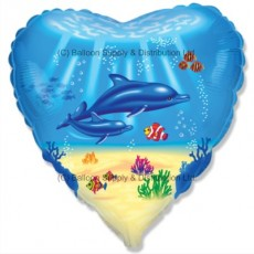 "18"" Dolphin Family Balloon"