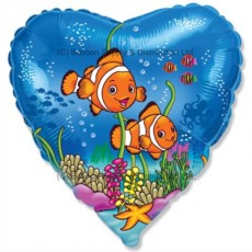 "18"" Clownfish Friends Balloon"