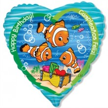 "18"" Clownfish Birthday Balloon"