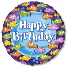 "18"" Clownfish Birthday Team Balloon"