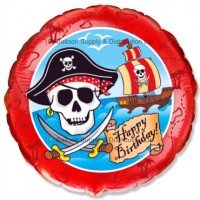 "18"" Birthday Pirates Balloon"
