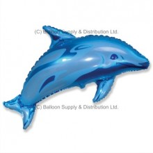 Jumbo Blue Dolphin Shape Balloon