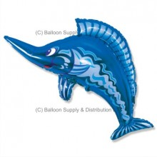 XL Jumbo Blue Swordfish Shape Balloon