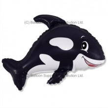 Jumbo Black Whale Shape Balloon