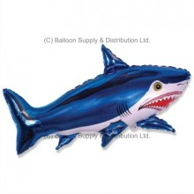 Jumbo Blue Shark Shape Balloon