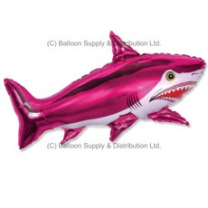 Jumbo Pink Shark Shape Balloon