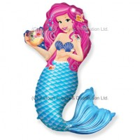 Jumbo Zoe Mermaid Shape Balloon