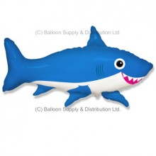 Jumbo Blue Happy Shark Shape Balloon