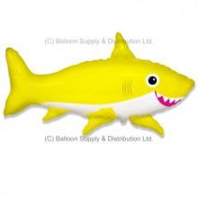 Jumbo Yellow Happy Shark Shape Balloon