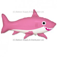 Jumbo Pink Happy Shark Shape Balloon