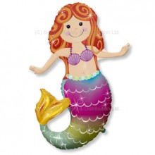 »BULK ORDER ONLY: Jumbo Happy Mermaid Shape Balloon