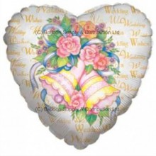 "18"" Wedding Wishes Bells Balloon"