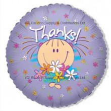 "18"" Thanks Girl Flowers Balloon"