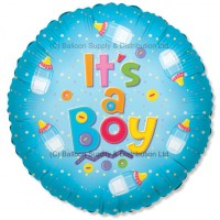 "18"" It's A Boy Bottle Balloon"