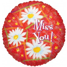"18"" Miss You Daisies Balloon"