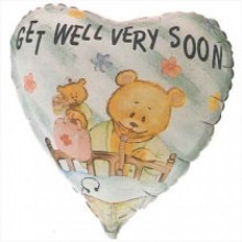 "18"" Get Well Very Soon Bears Balloon"