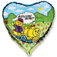 "18"" Welcome Home Train Balloon"