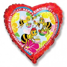 "18"" Birthday Bees Balloon"