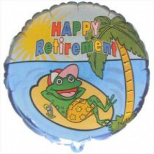 "18"" Happy Retirement Frog Balloon"
