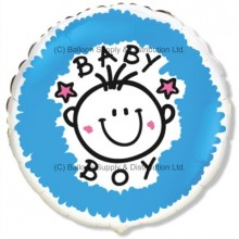 "18"" Baby Boy Balloon"