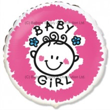 "18"" Baby Girl Balloon"