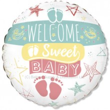 "18"" Welcome Sweet Baby Balloon - NEW!"