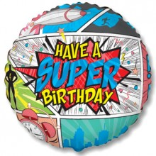 "18"" Super Cartoon Birthday Balloon"