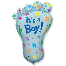 Jumbo Baby Foot Boy Balloon