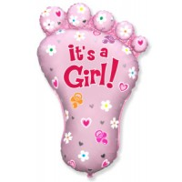 Jumbo Baby Foot Girl Balloon