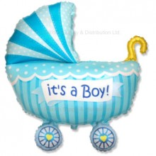 Jumbo Baby Pram Boy Balloon