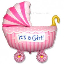 Jumbo Baby Pram Buggy Girl Balloon