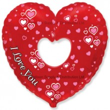 Jumbo Groovy Love Heart Shape Balloon