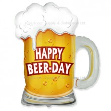 Jumbo Happy Beer-Day Birthday Beer Mug Shape Balloon