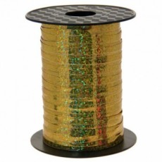 500m Holographic Gold Balloon Curling Ribbon