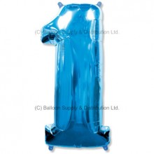 Jumbo Number 1 Balloon - Blue