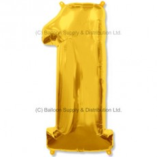 Jumbo Number 1 Balloon - Gold