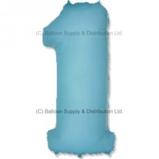 Jumbo Number 1 Balloon - Pastel Blue