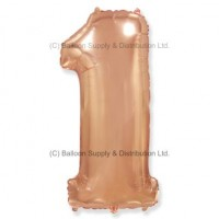 Jumbo Number 1 Balloon - Rose Gold