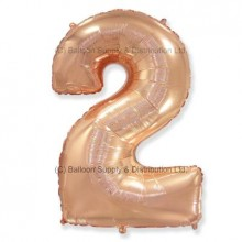 Jumbo Number 2 Balloon - Rose Gold