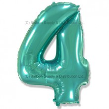 Jumbo Number 4 Balloon - Mint Green