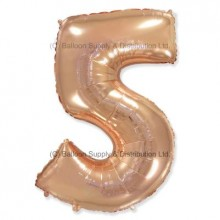 Jumbo Number 5 Balloon - Rose Gold