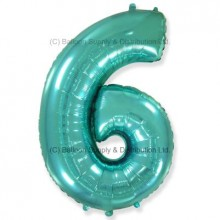 Jumbo Number 6 Balloon - Mint Green