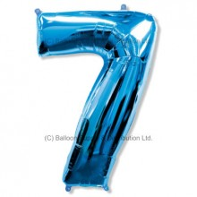 Jumbo Number 7 Balloon - Blue
