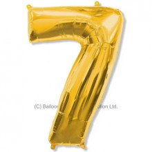 Jumbo Number 7 Balloon - Gold