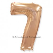 Jumbo Number 7 Balloon - Rose Gold